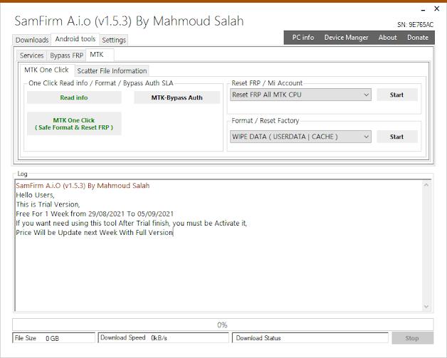 SamFirm A.i.o V1.5.3 Support MTK One Click