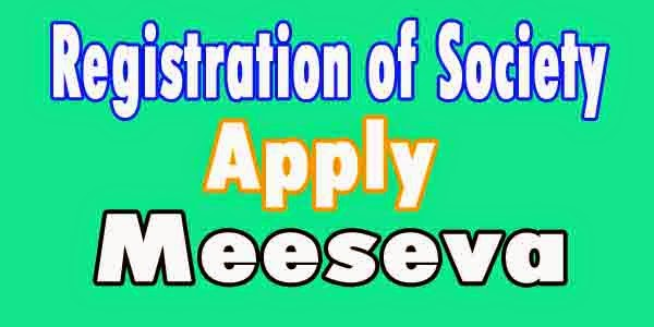 Registration of Society Apply in Meeseva