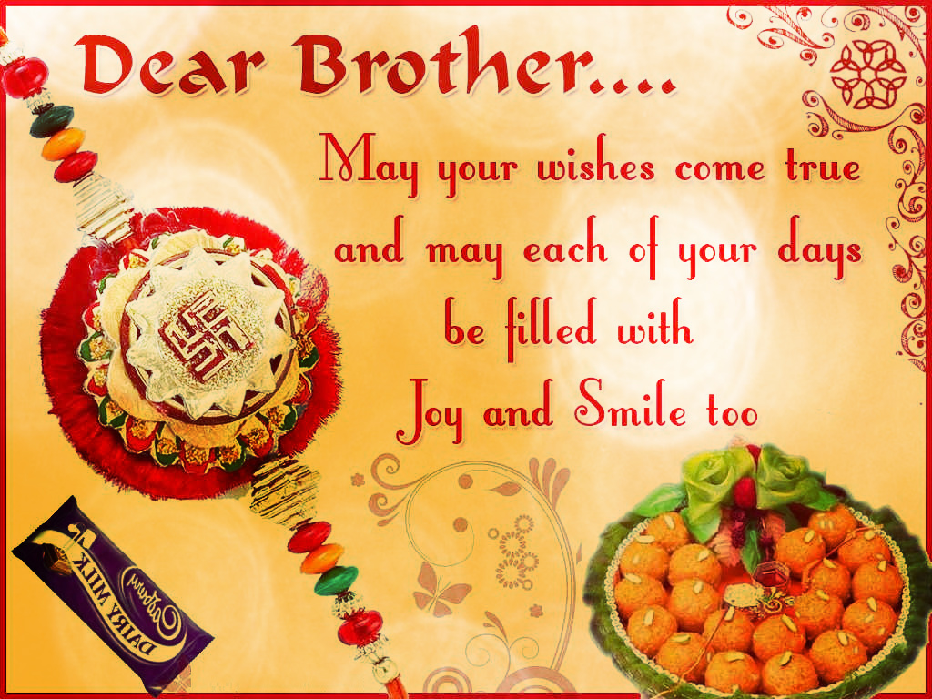 Happy Raksha Bandhan Greetings For Brother Rakhi Wishes For