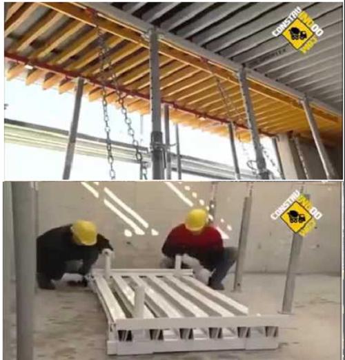 طريقة بديلة لصب السقف بدون شدة خشبية