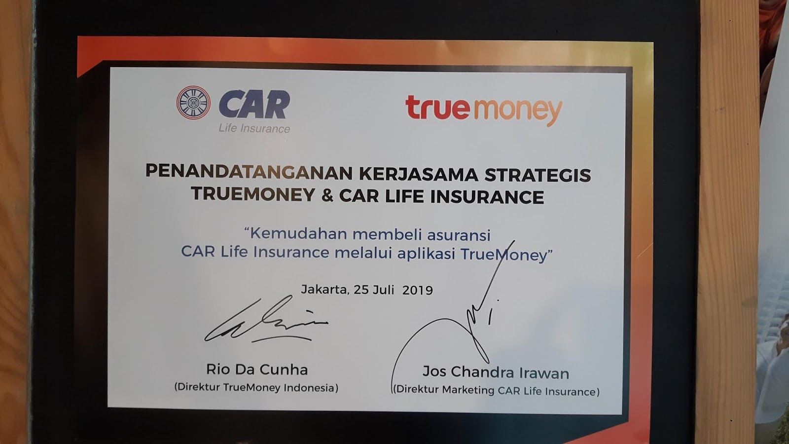My Way To Say Trumoney Bekerjasama Dengan Car Life Insurance