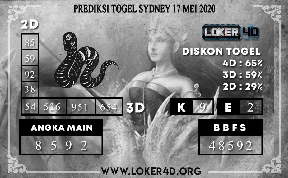 PREDIKSI TOGEL SYDNEY 17 MEI 2020