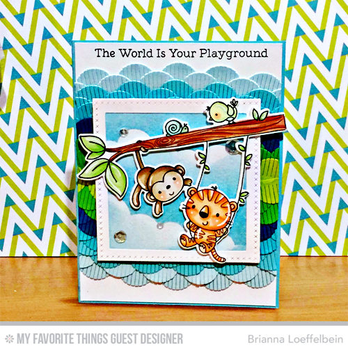 Handmade card from Brianna Loeffelbein featuring products from My Favorite Things #mftstamps
