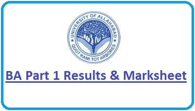 Allahabad University BA Part 1 Result 2020