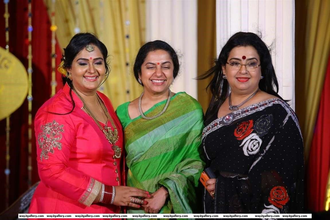 Suhasini and Ambika were among the celebrities at Radhas th wedding anniversary celebration