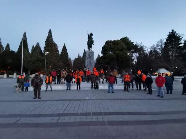 Οι κυνηγοί στην Τρίπολη εκαναν πορεία διαμαρτυρίας (εικόνες)