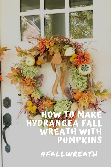 How to recycle a fall wreath with hydrangeas and pumpkins
