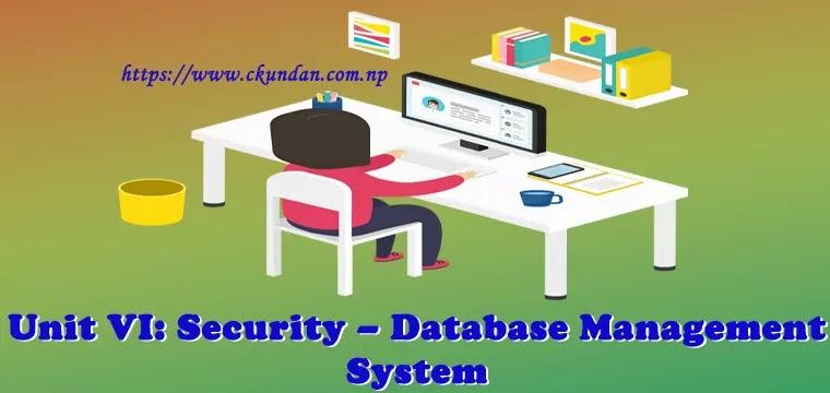 Security – Database Management System