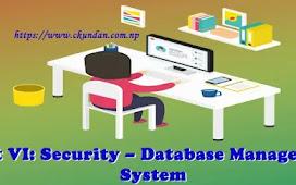 Unit VI: Security – Database Management System