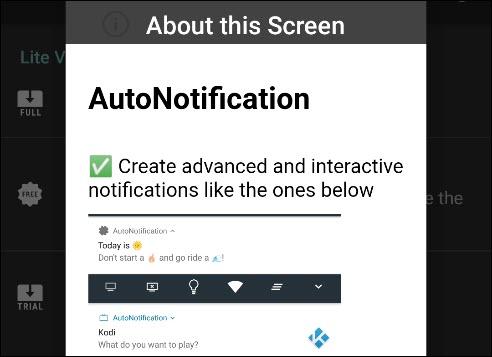 رسالة المقدمة في AutoNotification.