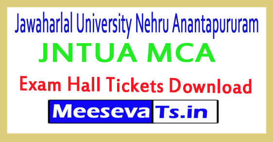 JNTUA MCA Exam Hall Tickets Download