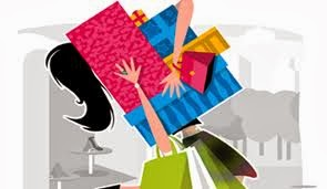 graphic of woman shopping