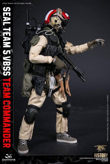 osw.zone Dam Toys 1 / 6. ScaleSeal Team 5 VBSS Team Commander - 1990s Michael Biehn SEAL Figure