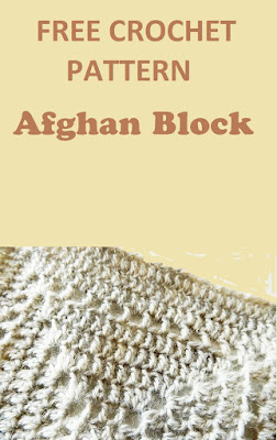 Free crochet pattern easy afghan block