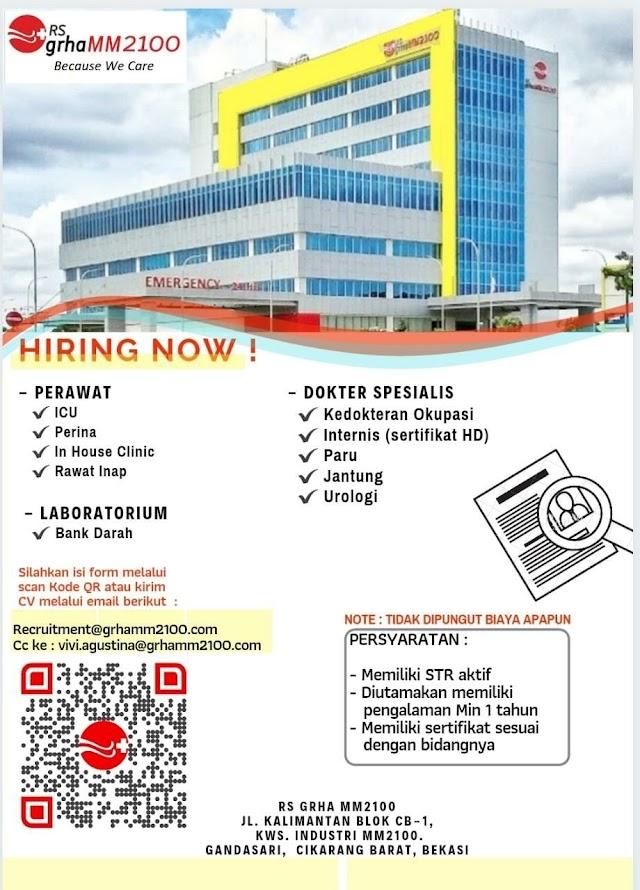 Loker Dokter Spesialis RS GRAHA MM2100 Cikarang Barat, Bekasi