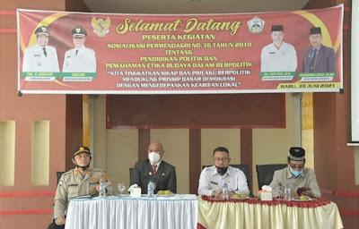 Plt Bupati Dailami Ingatkan Pentingnya Etika Politik