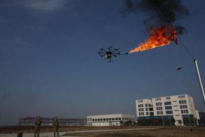 flamethrower drone ( drone with flamethrower )