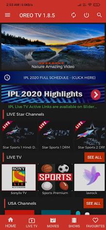 Oreo Tv screenshot