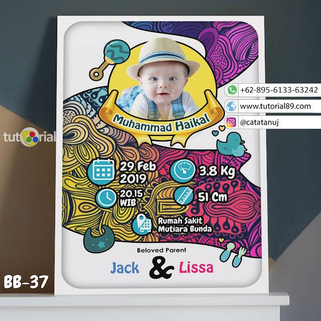 Biodata Bayi Costume Unik Kode BB37 | Abstrak doodle