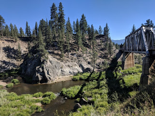 Railroad bridge over Middle Fork Feather River, Portola, California