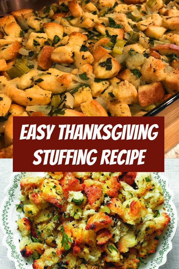 Don't make it harder than it has to be. This easy Thanksgiving stuffing recipe will let you focus on the main event. #stuffingrecipe #thanksgiving #thanksgivingrecipes #easyrecipe