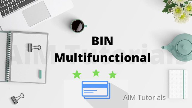 Bin multifunctional