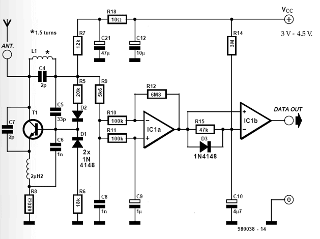 priject of receiver and transmitter low cost data circuit diagram