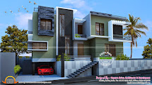 Modern Duplex House - Kerala Home Design And Floor Plans