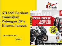 AHASS Berikan Tambahan Potongan 20% Khusus Januari