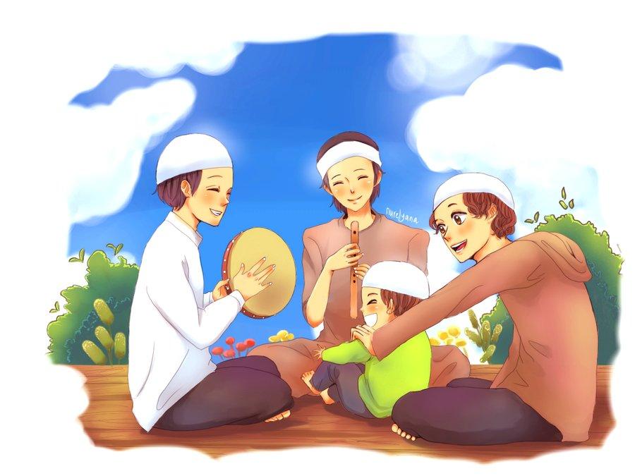 Wallpaper Gambar Kartun Muslimah Keren Terbaru | Deloiz