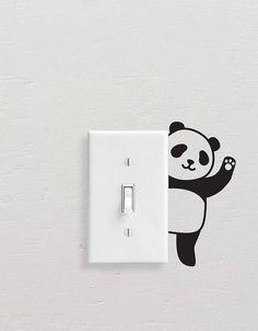 Switchboard Wall Painting Panda