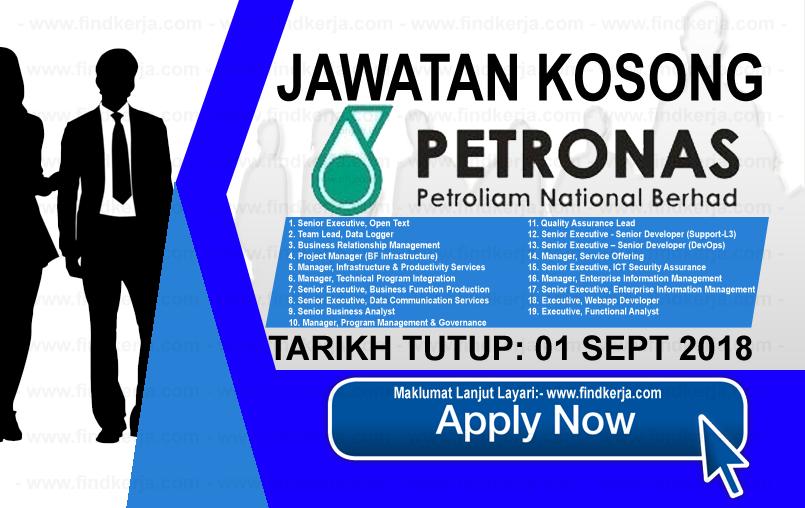 Jawatan Kerja Kosong PETRONAS ICT logo www.ohjob.info www.findkerja.com september 2018