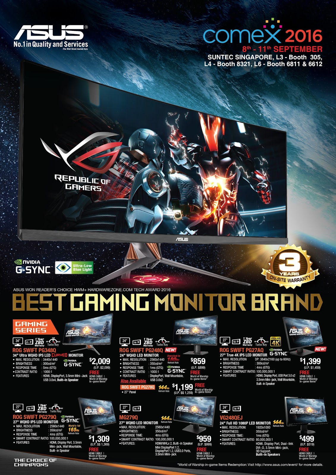 ASUS COMEX 2016 Product Brochures, Pricelist and Flyers