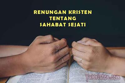 renungan kristen tentang sahabat sejati