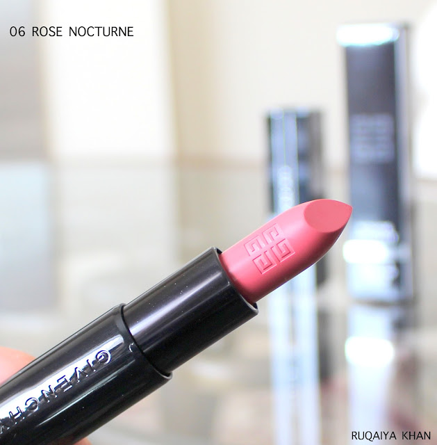 GIVENCHY Rouge Interdit Satin Lipstick in ROSE NOCTURNE 06 Review and Swatches