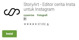 Aplikasi Pendukung Instagram Story android
