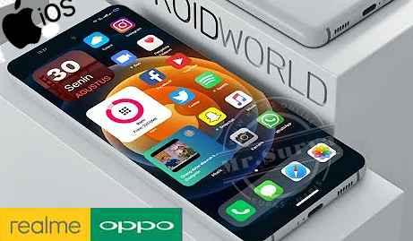 Tema iPhone/ iOS Black Untuk Oppo ColorOS 11 dan Realme UI