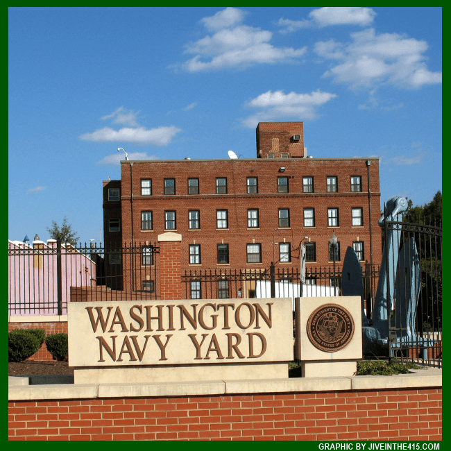 An entrance to the Washington Navy Yard in Washington, D.C.