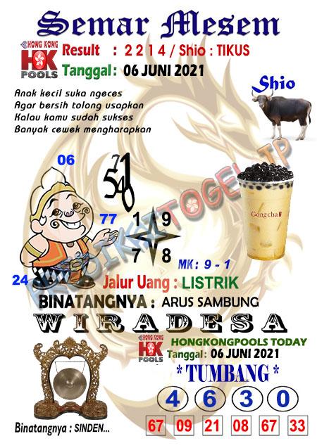 Syair Semar Mesem HK Minggu 06 Juni 2021