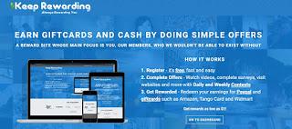 Keep Rewarding Homepage