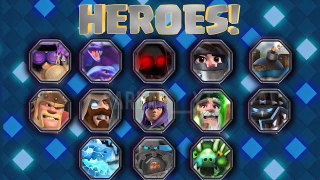 filtraciones de clah royale heroes