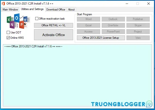 Hướng dẫn cài đặt Office với Office 2013 - 2019 C2R Install Lite mới nhất