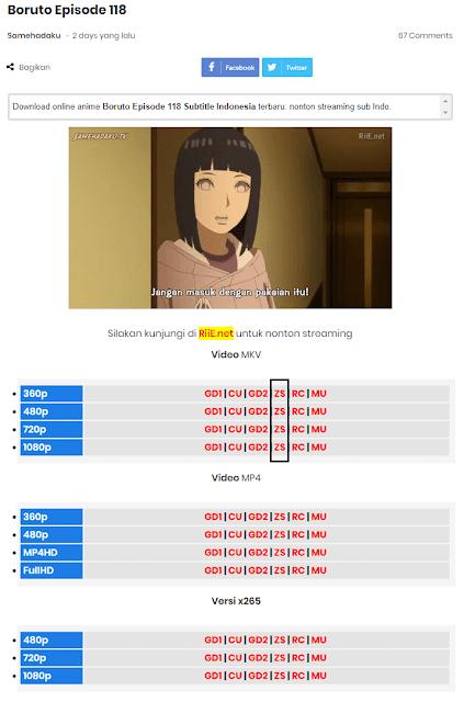 download video anime di samehadaku