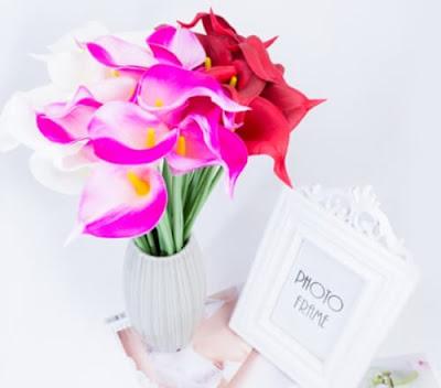 Bunga Plastik / Bunga Artificial Calla Lily (Seri PU)