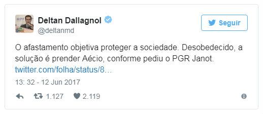 'Se Senado não afasta Aécio, ele deve ser preso', diz procurador da Lava Jato