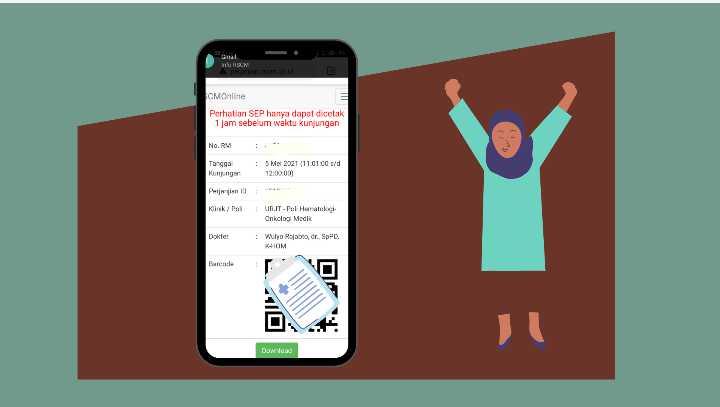 Barcode pendaftaran rscm online