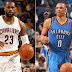 LeBron James Y Russell Westbrook jugadores de la Semana de la NBA
