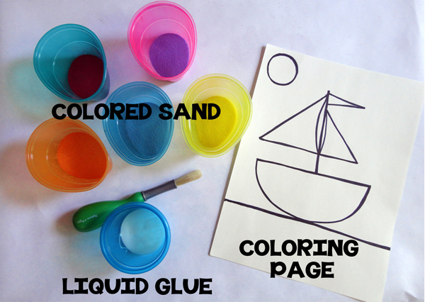 Colored Sand Art Activity