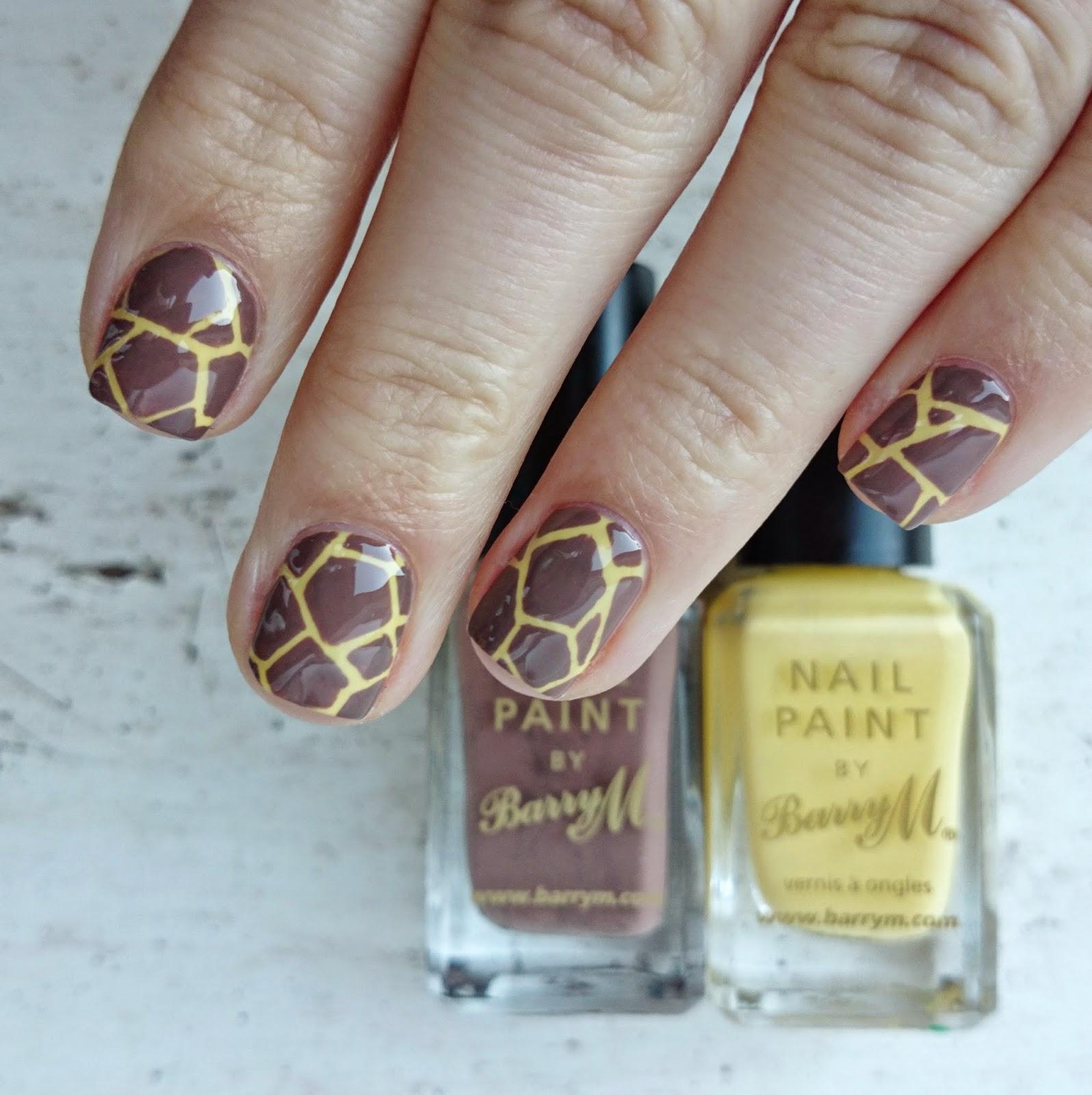 Dahlia Nails: Giraffe Print Safari Nails