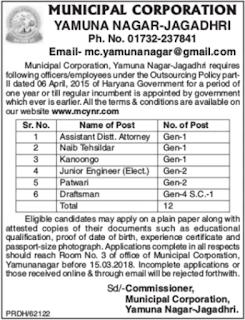Municipal Corporation Recruitment 2018
